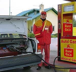 Авто газ заправка